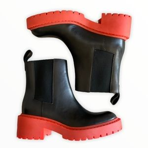 KENZO X H&M Black Leather Chelsea Boots
